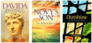 Collage of all three book covers by author Karen Ingalls