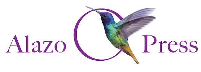 The Alazo Press logo is an example of a fascinating logo, featuring a hummingbird, a nod to the double meaning of the word Alazo.
