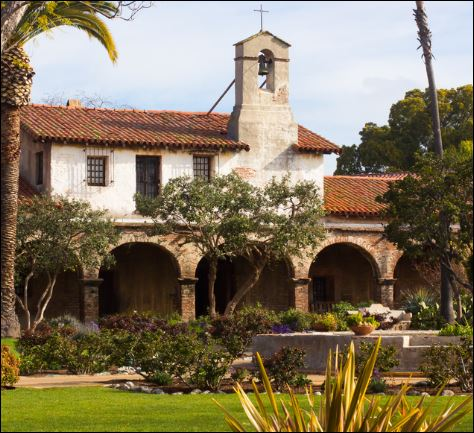 Photo of the California mission San Juan Capistrano.