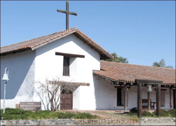 Photo of the California mission San Francisco Solano de Sonoma.