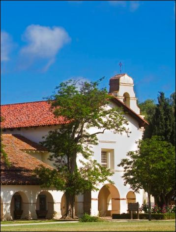 Photo of the california mission San Juan Bautista.