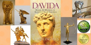 Collage of photos from the book Davida, by author Karen Ingalls