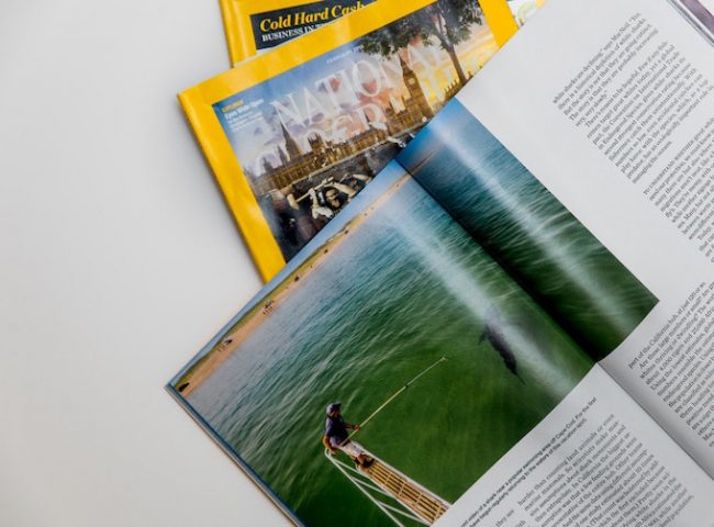 Fan of National Geographic magazines